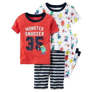Toddler Boy Carter's Graphic & Print Tees, Shorts & Pants Pajama Set