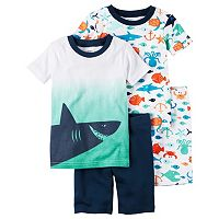 Toddler Boy Carter's 4-pc. Tee & Shorts Pajama Set