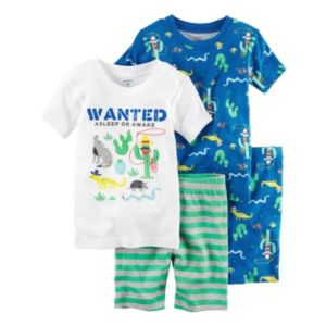Baby Boy Carter's 4-pc. Print & Graphic Tee & Shorts Pajama Set