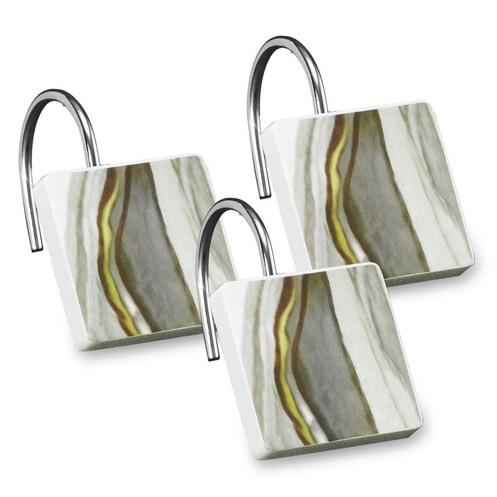 Popular Bath Shell Rummel 12-pack Sand Stone Shower Curtain Hook