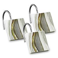 Popular Bath Shell Rummel 12-pack Sand Stone Shower Curtain Hook