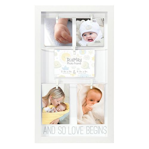 "Malden ""And So Love Begins"" Clothespin 5-Opening Collage Frame"