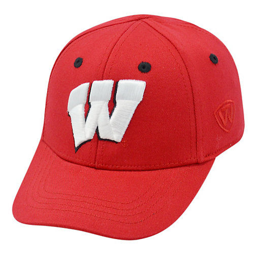 b5f007438d6d83 Youth Top of the World Wisconsin Badgers Cub One-Fit Cap