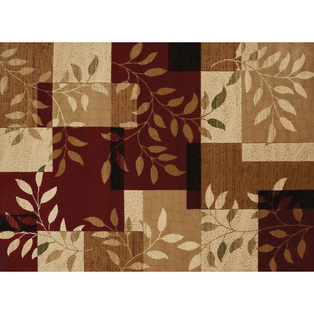 United Weavers Studio Sapphire Geometric Leaf Rug
