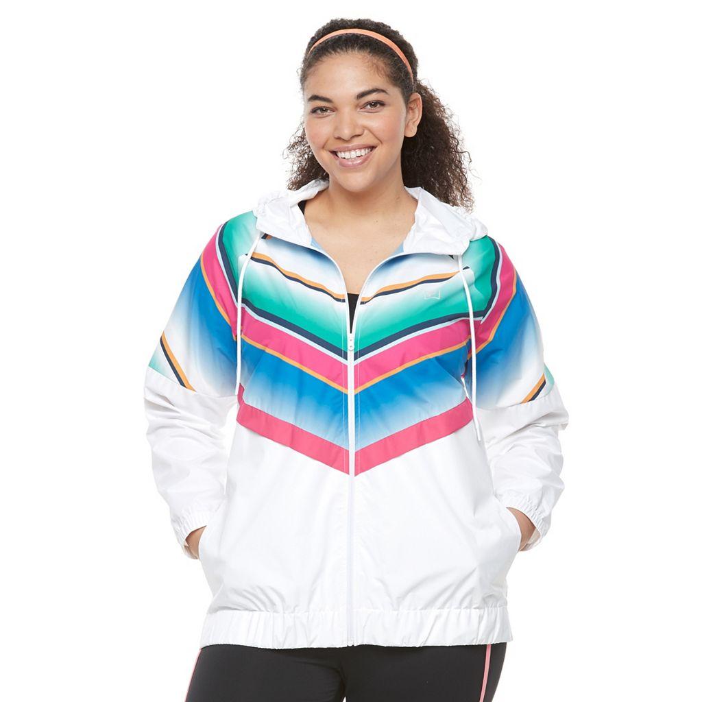 Plus Size FILA SPORT® Chevron Windbreaker Jacket