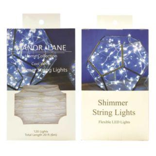 Manor Lane Cool White Shimmer LED String Lights