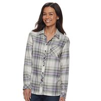 Petite SONOMA Goods for Life™ Essential Plaid Shirt