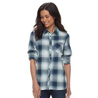 Petite SONOMA Goods for Life™ Plaid Button-Down Shirt
