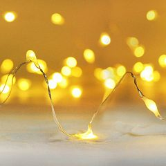 Manor Lane Amber Shimmer LED String Lights