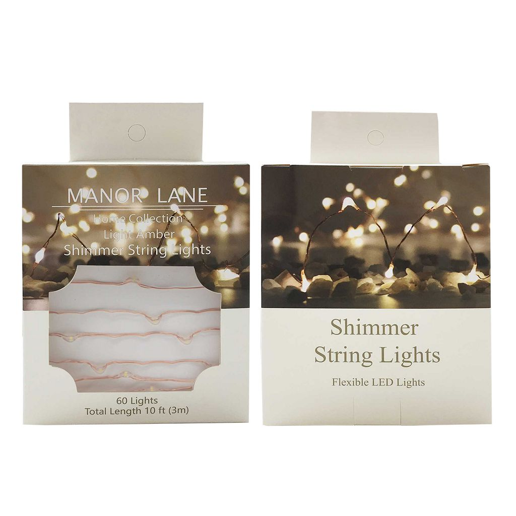 Manor Lane Copper Shimmer LED String Lights