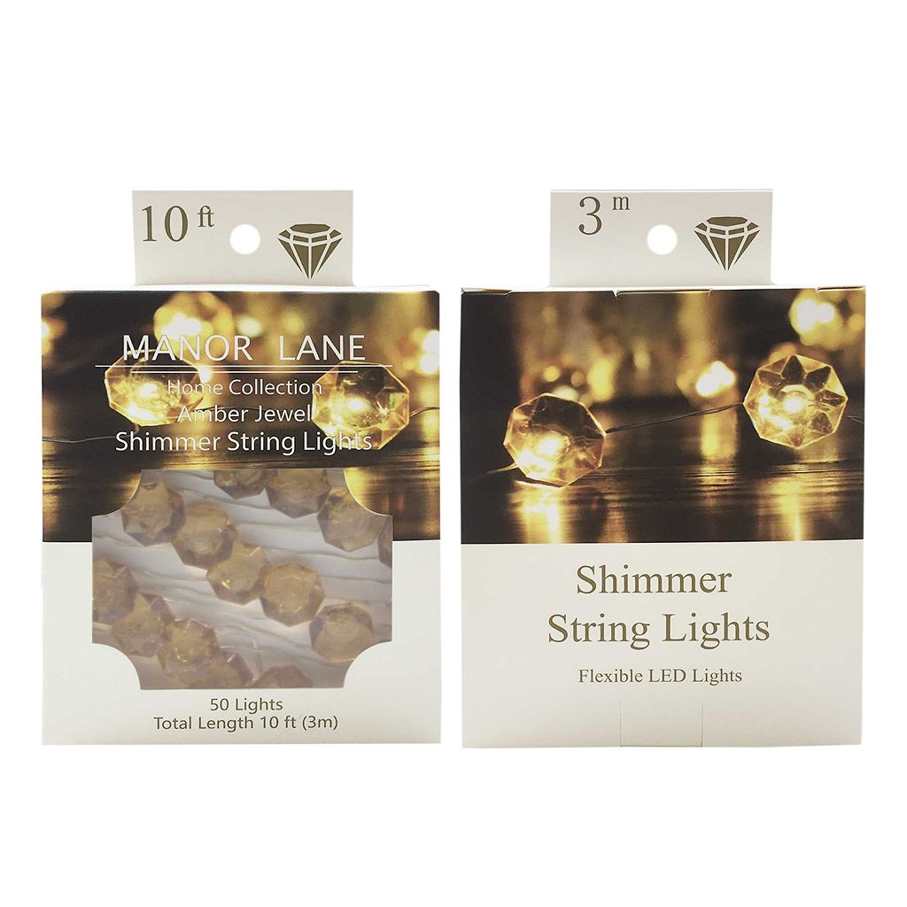 Manor Lane 10-ft. LED Shimmer String Lights