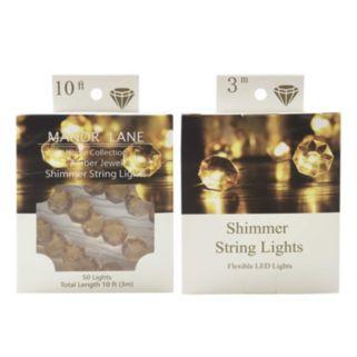 Manor Lane 10-ft. Jeweled Shimmer LED String Lights