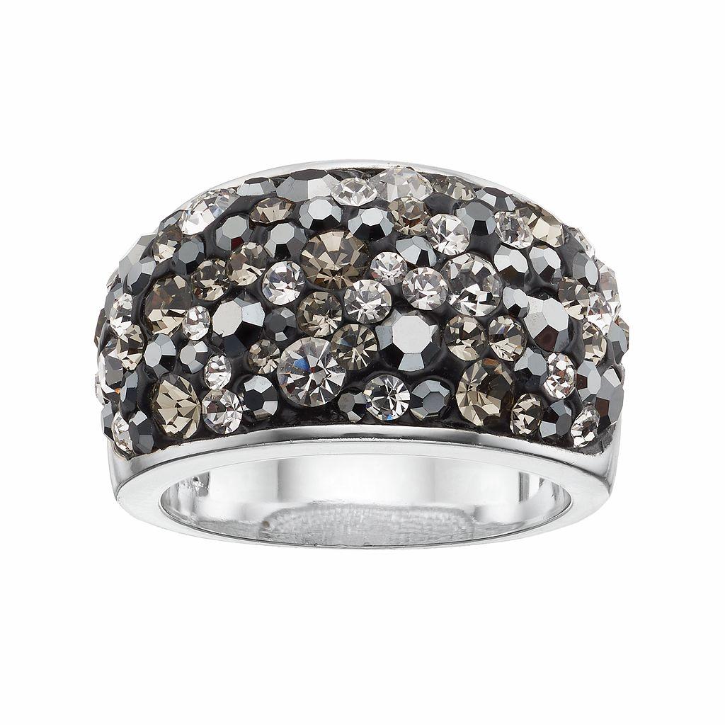 Confetti Black Crystal Dome Ring