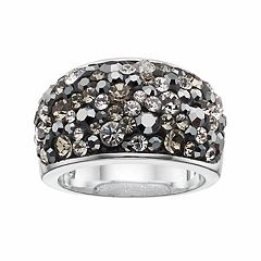 Confetti Black Crystal Dome Ring