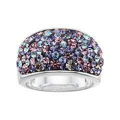 Confetti Purple Crystal Dome Ring