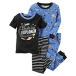 "Baby Boy Carter's 4 pc Space ""Bedtime Explorer"" Tops & Pants Pajama Set"