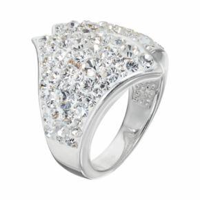Confetti Clear Crystal Ring