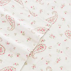 Laura Ashley Lifestyles 4 pc Bristol Paisley 300 Thread Count Sheet Set