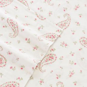 Laura Ashley Lifestyles 4-piece Bristol Paisley 300 Thread Count Sheet Set