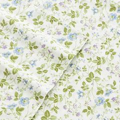 Laura Ashley Lifestyles 4-piece Spring Bloom 300 Thread Count Sheet Set