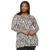 Plus Size Dana Buchman Cold-Shoulder Tunic