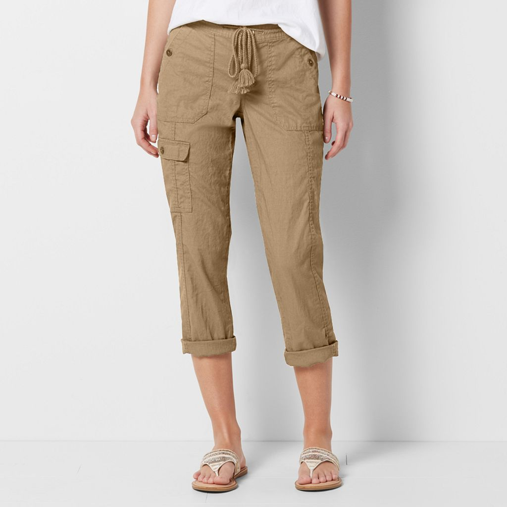 Women's SONOMA Goods for Life™ Beachy Tassel Capris