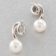 Sterling Silver and Freshwater Cultured Pearl Earrings