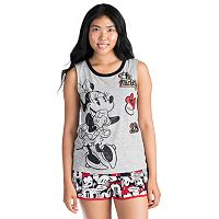 Disney's Mickey & Minnie Mouse Juniors' Pajamas: Tank & Boxer Shorts PJ Set