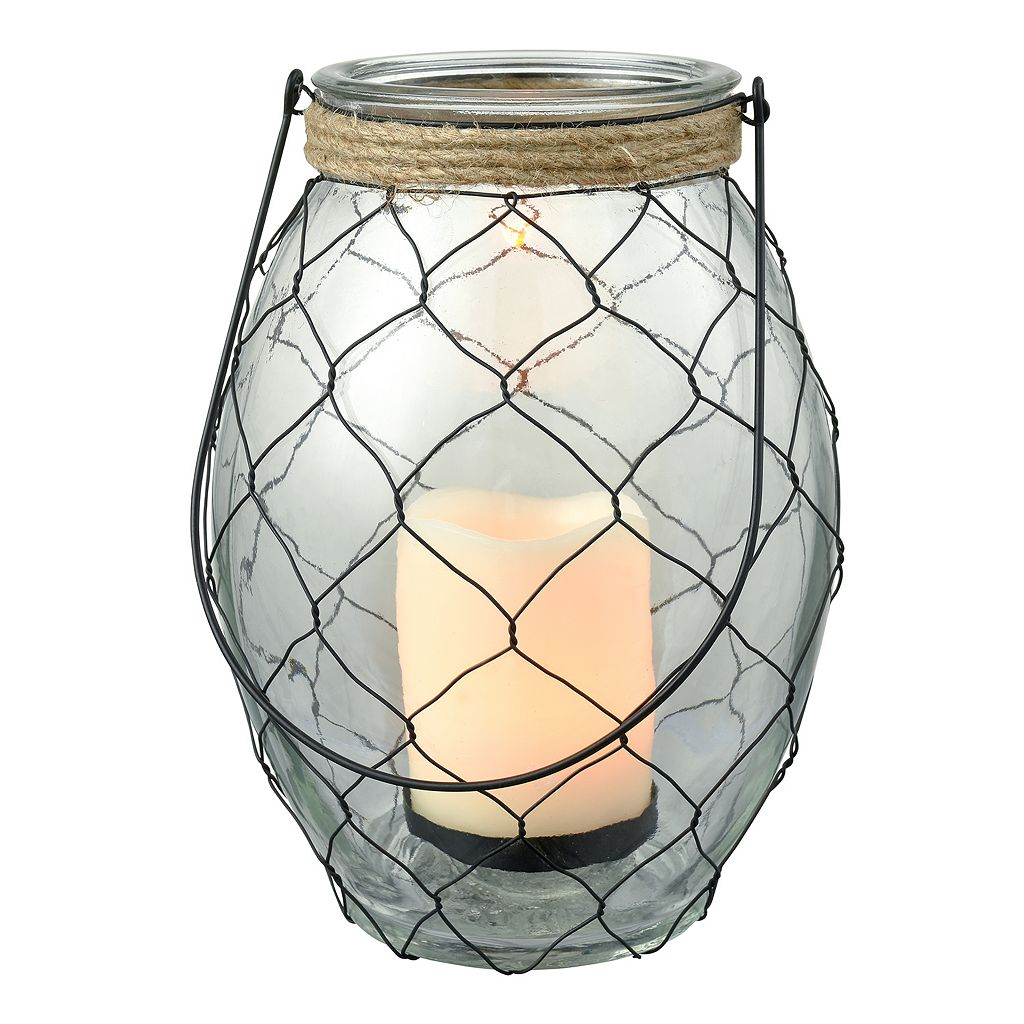 San Miguel Rustic LED Candle Lantern