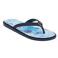 love this life Flower & Peace Sign Print Flip Flops