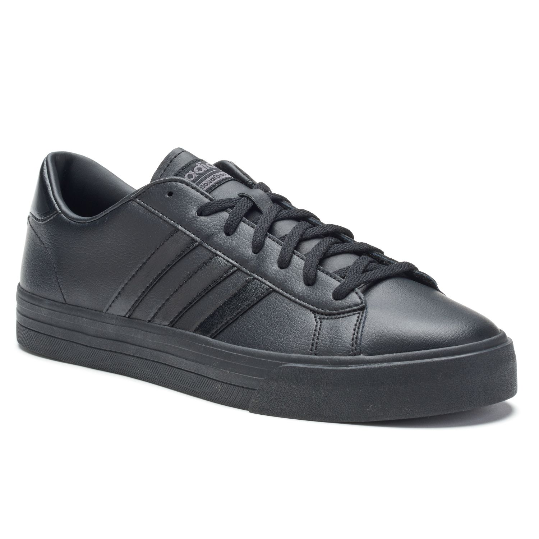 adidas NEO Cloudfoam Super Daily Men\u0027s Leather Shoes. Black White