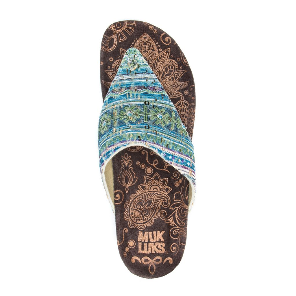 MUK LUKS Sue Ellen Women's Wedge Sandals