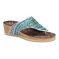 MUK LUKS Sue Ellen Women's Wedge Sandals