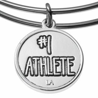 "love this lifeCrystal ""#1 Athlete"" Trophy Charm Bangle Bracelet"