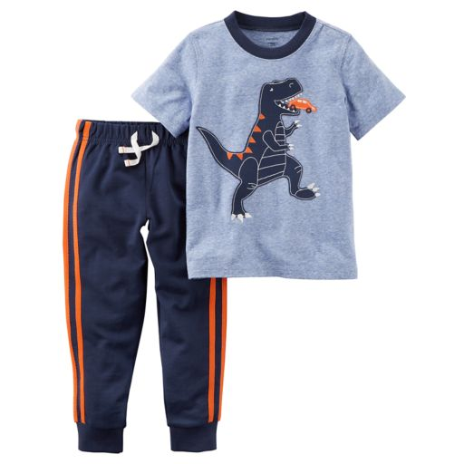 Toddler Boy Carter's Dinosaur Tee & Pants Set