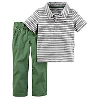 Toddler Boy Carter's Striped Polo & Pants Set