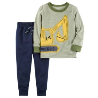 Toddler Boy Carter's Construction Long Sleeve Tee & Jogger Pants Set