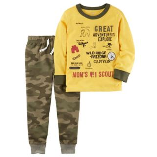 "Toddler Boy Carter's ""Mom's #1 Scout"" Graphic Tee & Jogger Pants Set"