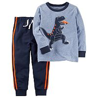 Toddler Boy Carter's Long-Sleeved Dinosaur Tee & Pants Set
