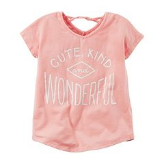 Girls 4-8 Carter's Twist Back Glitter Graphic Tee
