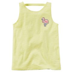 Girls 4-8 Carter's Metallic Thread Applique Slubbed Tank Top
