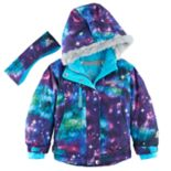 Girls 4-6x ZeroXposur Heavyweight River Galaxy Snowboard Jacket & Headband Set