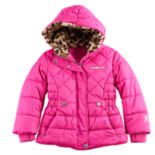 Girls 4-6x ZeroXposur Cheetah Print Faux-Fur Heavyweight Puffer Jacket