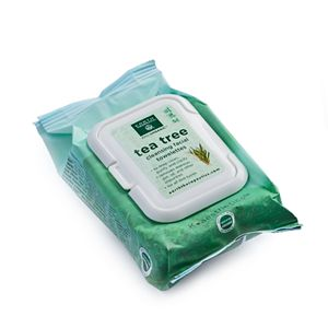 Earth Therapeutics 30-ct. Tea Tree Cleansing & Makeup Removing Facial Towelettes