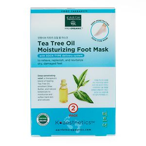 Earth Therapeutics 2-pk. Tea Tree Oil Foot Masks