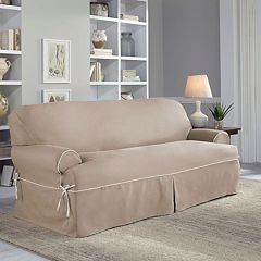 Serta Relaxed Fit Twill Sofa Slipcover