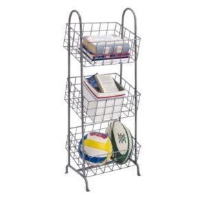 Linon 3-Basket Metal Storage Stand