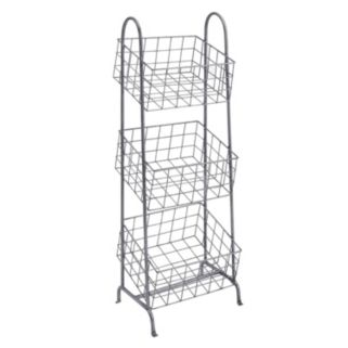 Linon 3-Basket Metal Storage Stand