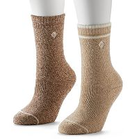 Columbia 2 pkFleece-Lined Wool Crew Socks - Women