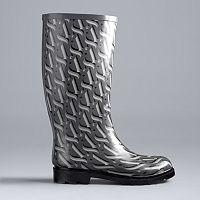 Simply Vera Vera Wang Women's Knee High Rain Boots